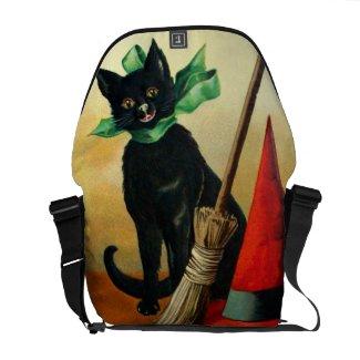 Ellen H. Clapsaddle: Black Cat, Broom and Hat