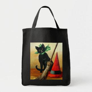 Ellen H. Clapsaddle: Black Cat, Broom and Hat Tote Bag