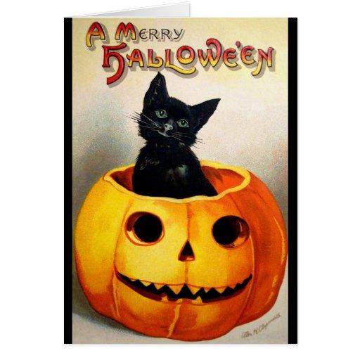 Ellen H. Clapsaddle: Black Cat in Jack O'Lantern Cards