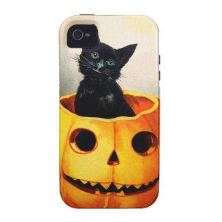 Ellen H. Clapsaddle: Black Cat in Jack O'Lantern iPhone 4 Cases