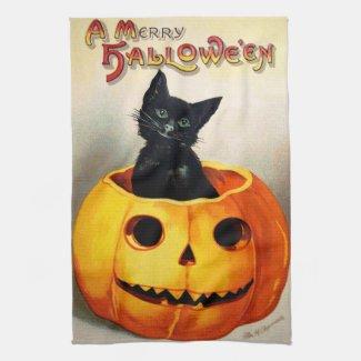 Ellen H. Clapsaddle: Black Cat in Jack O`Lantern