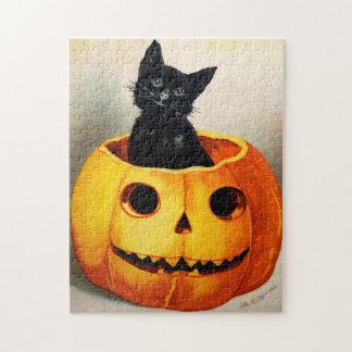 Ellen H. Clapsaddle: Black Cat in Jack O'Lantern Puzzle