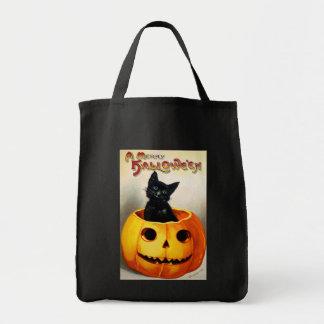 Ellen H. Clapsaddle: Black Cat in Jack O'Lantern Tote Bag