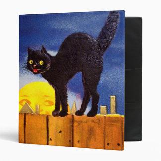Ellen H. Clapsaddle: Black Cat on a Fence 3 Ring Binder