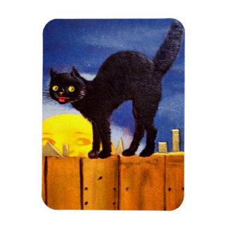 Ellen H. Clapsaddle: Black Cat on a Fence Magnet