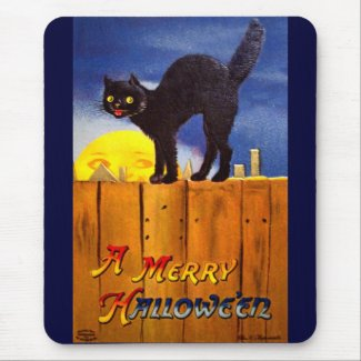 Ellen H. Clapsaddle: Black Cat on a Fence