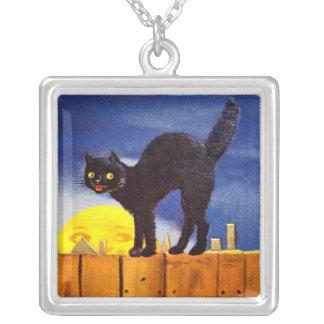 Ellen H. Clapsaddle: Black Cat on a Fence Necklace
