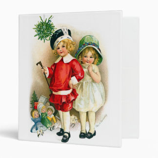 Ellen H. Clapsaddle: Boy and Girl with Toys 3 Ring Binder