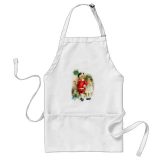 Ellen H. Clapsaddle: Boy and Girl with Toys Adult Apron