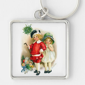 Ellen H Clapsaddle Boy and Girl with Toys Key Chain