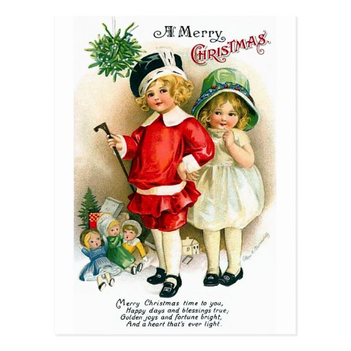 Ellen H. Clapsaddle: Boy and Girl with Toys Post Card