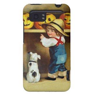 Ellen H. Clapsaddle: Boy, Dog and Jack O`Lanterns