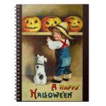 Ellen H. Clapsaddle: Boy, Dog and Jack O'Lanterns Note Book