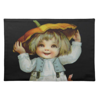 Ellen H. Clapsaddle: Boy in Pumpkin Placemat