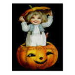 Ellen H. Clapsaddle: Boy in Pumpkin Postcard