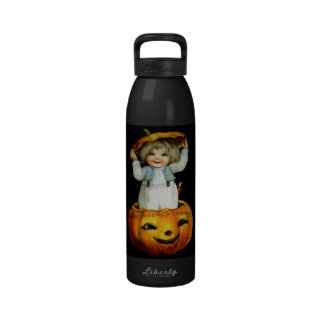 Ellen H. Clapsaddle: Boy in Pumpkin Drinking Bottles