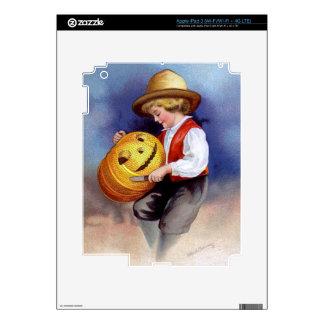 Ellen H Clapsaddle Boy with Jack O Lantern 2 Decal For iPad 3
