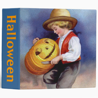 Ellen H. Clapsaddle: Boy with Jack O'Lantern 2 3 Ring Binder