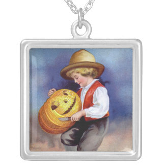 Ellen H. Clapsaddle: Boy with Jack O'Lantern 2 Pendants