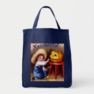 Ellen H. Clapsaddle: Boy with Jack O'Lantern Tote Bag