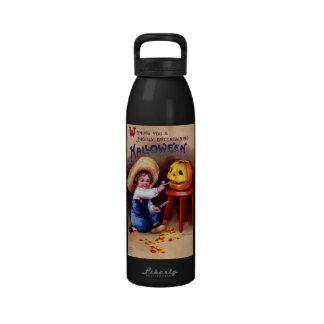 Ellen H. Clapsaddle: Boy with Jack O'Lantern Reusable Water Bottles