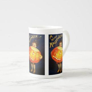 Ellen H. Clapsaddle: Boy with Pumpkin Tea Cup