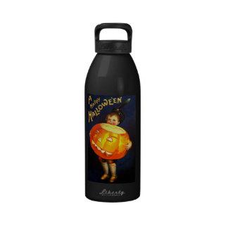 Ellen H. Clapsaddle: Boy with Pumpkin Drinking Bottles