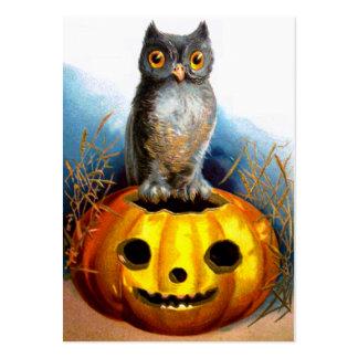 Ellen H. Clapsaddle: Búho de Halloween Tarjetas De Visita Grandes