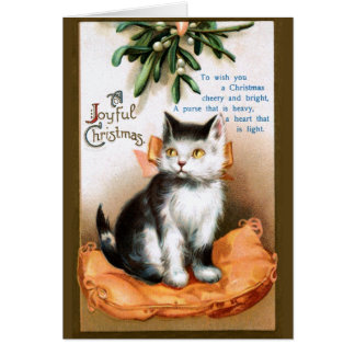 Ellen H. Clapsaddle: Cat under Mistletoe Card