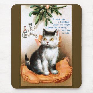 Ellen H. Clapsaddle: Cat under Mistletoe