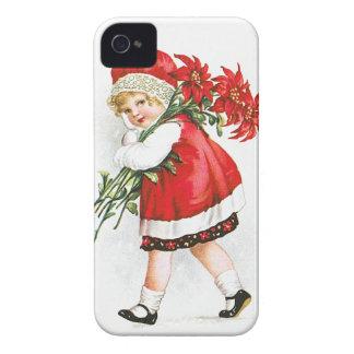Ellen H. Clapsaddle: Chica con las flores del navi iPhone 4 Case-Mate Carcasa