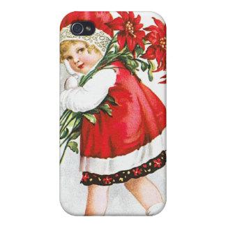 Ellen H. Clapsaddle: Chica con las flores del navi iPhone 4 Protectores