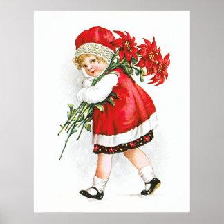 Ellen H Clapsaddle Chica con las flores del navi Posters