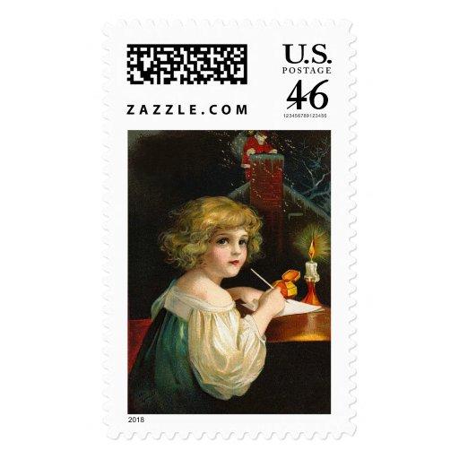 Ellen H. Clapsaddle - chica del navidad de la escr Franqueo