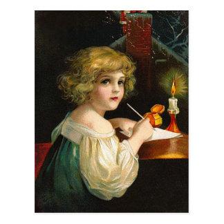 Ellen H. Clapsaddle - chica del navidad de la escr Postales