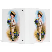 Ellen H. Clapsaddle: Child with Forget-me-not 3 Ring Binder