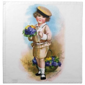 Ellen H. Clapsaddle: Child with Forget-me-not