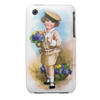 Ellen H. Clapsaddle: Child with Forget-me-not iPhone 3 Cases