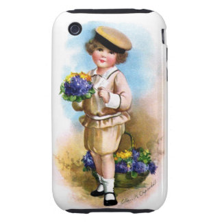 Ellen H. Clapsaddle: Child with Forget-me-not Tough iPhone 3 Case