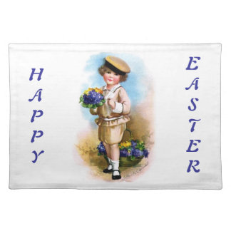 Ellen H. Clapsaddle: Child with Forget-me-not Cloth Placemat