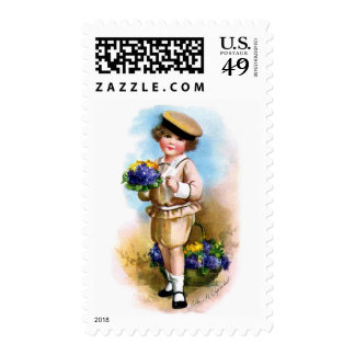 Ellen H. Clapsaddle: Child with Forget-me-not Postage Stamp