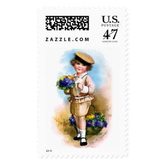 Ellen H. Clapsaddle: Child with Forget-me-not Postage