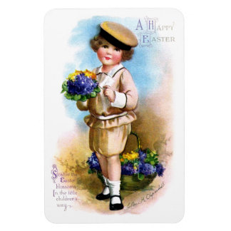 Ellen H. Clapsaddle: Child with Forget-me-not Rectangular Photo Magnet