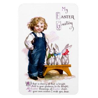 Ellen H. Clapsaddle: Child with tree bunnies Rectangular Photo Magnet