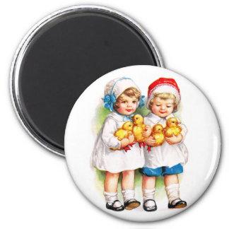 Ellen H. Clapsaddle: Children with Ducklings 2 Inch Round Magnet