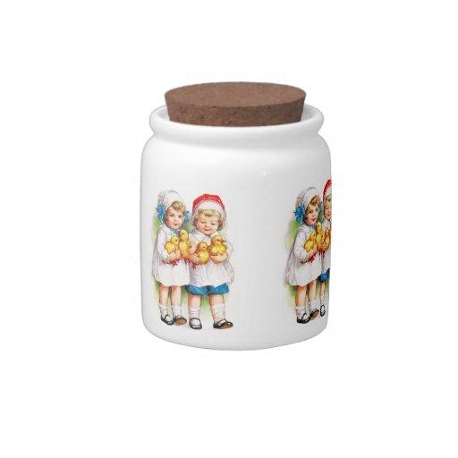 Ellen H. Clapsaddle: Children with Ducklings Candy Jar