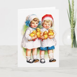 Ellen H. Clapsaddle: Children with Ducklings card