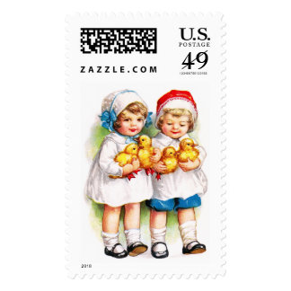 Ellen H. Clapsaddle: Children with Ducklings Postage Stamps