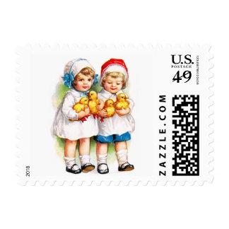 Ellen H. Clapsaddle: Children with Ducklings Postage