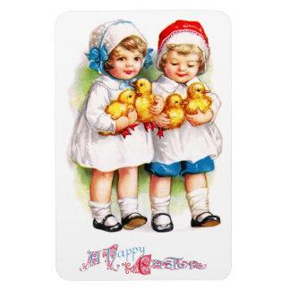 Ellen H. Clapsaddle: Children with Ducklings Rectangular Photo Magnet